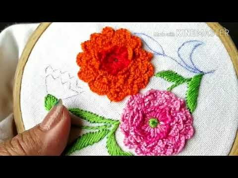 215 Carnation Flower Embroidery Hindi Urdu Youtube Carnation Flower Embroidery Flowers Embroidery