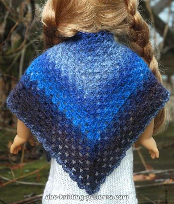 ABC Knitting Patterns - American Girl Doll (Granny Shawl ...