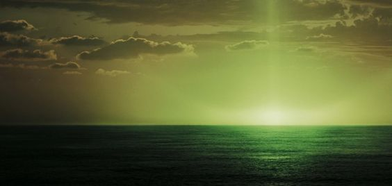 """Ever gaze upon the green flash, Master Gibbs?""  ~ Captain Barbossa, POTC 3:"