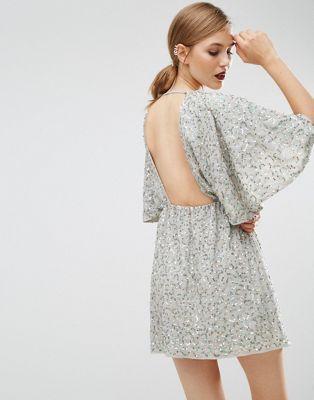 ASOS Sequin Kimono Mini Dress: