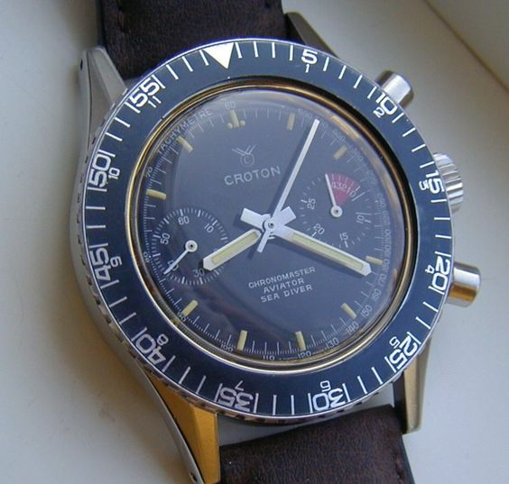 1970 Croton Chronomaster Aviator Sea Diver