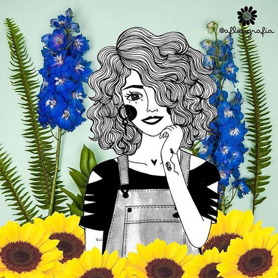 Projeto do dia  inspirada na Carla Lemos do blog @modices  #aflorigrafia #modicesinspira #florigrafias #maisflorporfavor