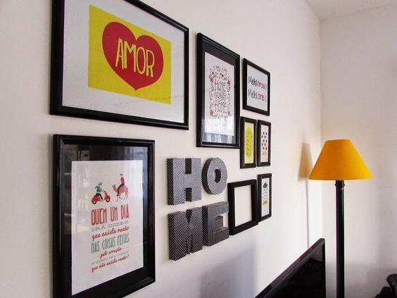 Minha parede da sala cheia de quadros