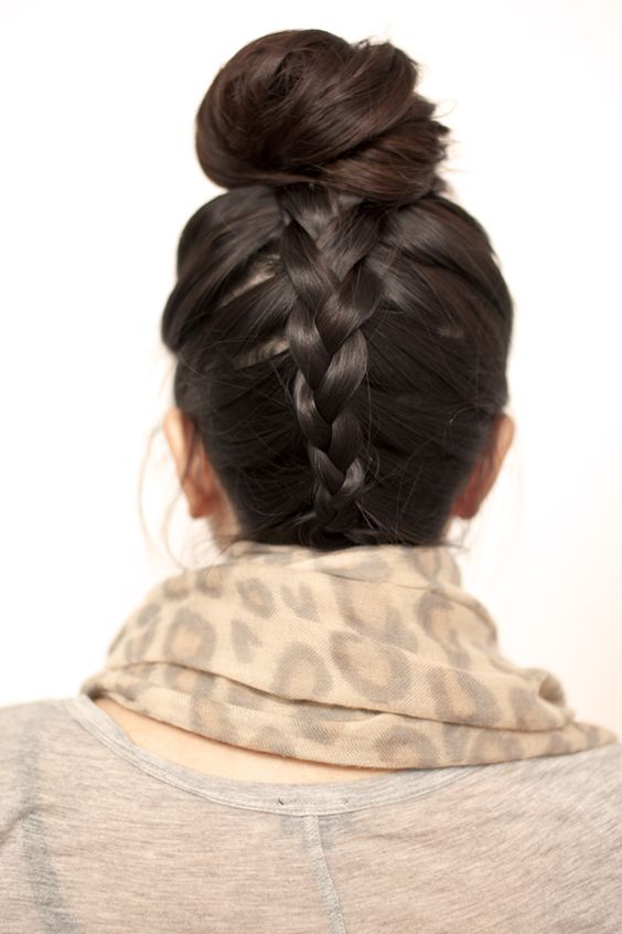 Top knot braid.