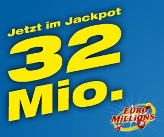 Morgen gibt es bei Euro Millions bis zu 32 Millionen zu gewinnen!  Hast du noch Spielguthaben aus einem Swisslos Wettbewerb? Setze es ein und werde bald Multi-Millionär!  Hier kannst du 32 Millionen Franken gewinnen: http://www.gratis-schweiz.ch/32-millionen-mit-swisslos-gewinnen/  Alle Wettbewerbe: http://www.gratis-schweiz.ch/