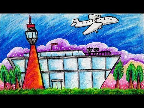 Cara Menggambar Bandara Udara Dan Pesawat Youtube Cara