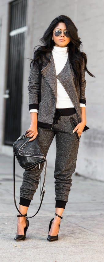 Perfect Black & Grey # Inspiration / Best LoLus Street Fashion: