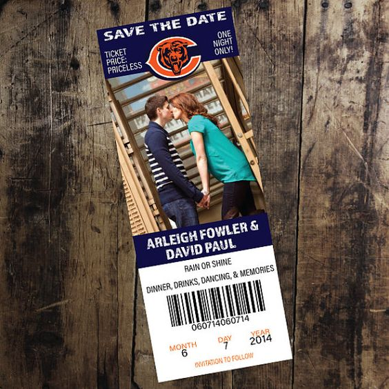 Chicago Bears Ticket Save the Date
