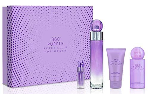 Perfume Cologne Perry Ellis Fragrances 360 Purple 4 Piece Gift Set For Women Gift Sets For Women Perry Ellis Fragrance