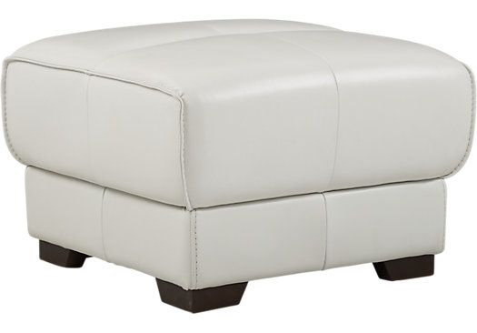 River Place White Leather Ottoman Leather Ottoman White Leather Ottoman Ottoman