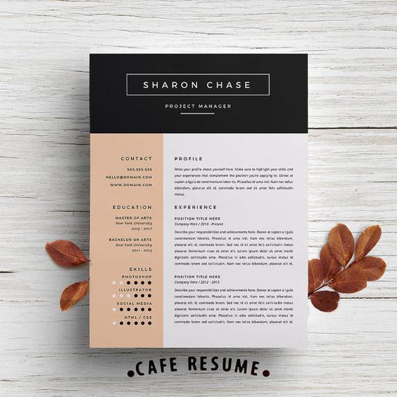 Resume Template Cover Letter Template for Word DIY by CafeResume - editorial assistant cover letter template