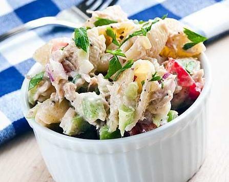 Tuna and Brown Rice Macaroni Salad.