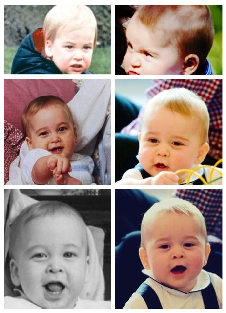 Baby William on the left & Prince George on the right