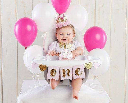 Kate Aspen Gold Glitter 1st Birthday Decor Kit In 2021 1st Birthday Girl Decorations Girl Birthday Decorations 1st Birthday Party For Girls