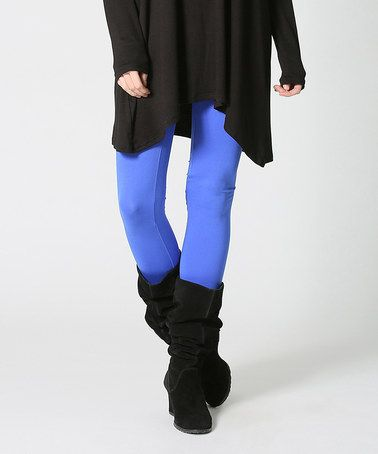 This Royal Blue Leggings - Plus is perfect! #zulilyfinds