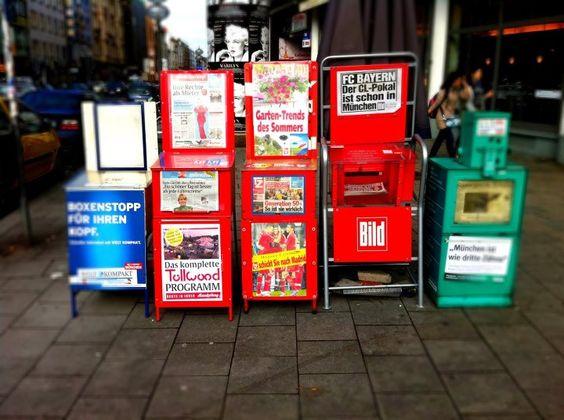 Automaten-Kultur: Zeitungs- und Zeitschriftenautomaten München