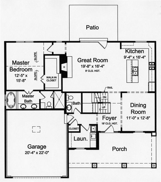 House plans craftsman and craftsman house plans on pinterest for Half basement house plans