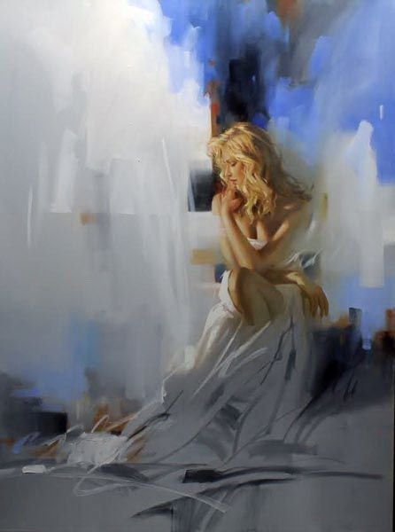 Lost in the Moment - 40x30 - Oil on Canvas - Richard S. Johnson - Addison Art Group