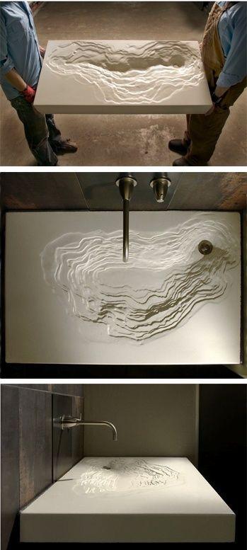 modern interior design sink: Concrete Sinks, Modern Bathroom, Topographic Sinks…