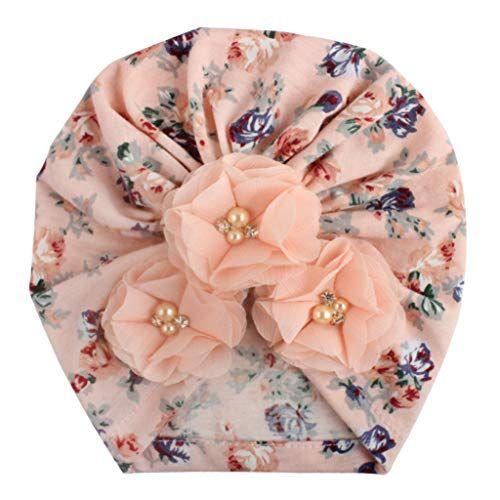 Sunenjoy Chapeau Bandeau Turban Noeud Mou T/ête Wraps pour B/éb/é Filles Bonnet Nouveau-N/é Tout-Petits Mode