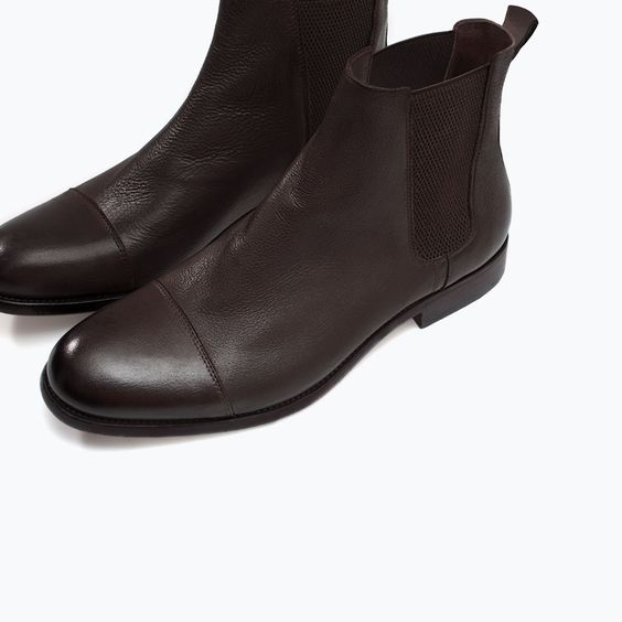 ZARA - SHOES & BAGS - ELASTIC LEATHER BOOTIE
