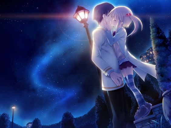 Good nite romantic wallpaper Anime Pinterest Romantic, Good night and Kiss
