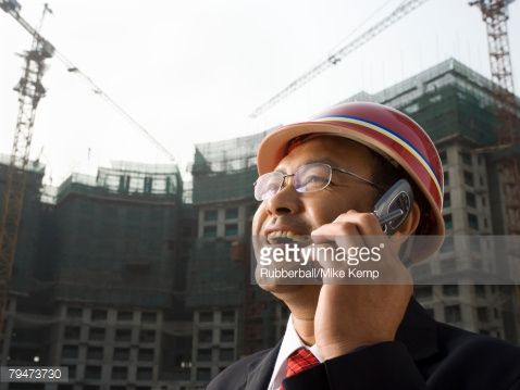Stock Photo : Architect on the job site