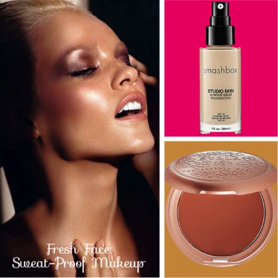 Sweat-proof makeup tips