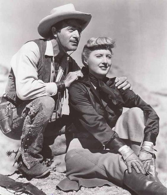 Barbara Stanwyck and Gilbert Roland in 'The Furies (1950)'