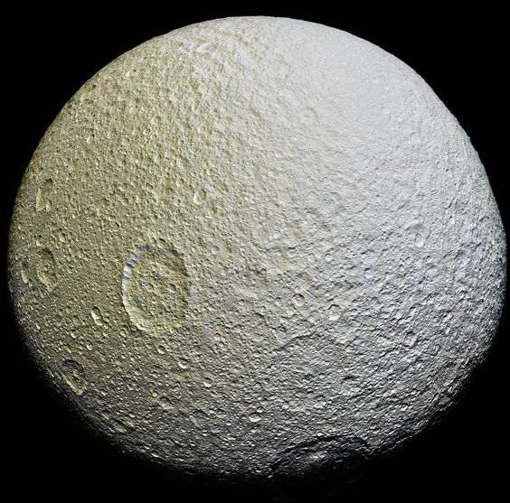 Saturn's Moon Tethys [2500x2473]