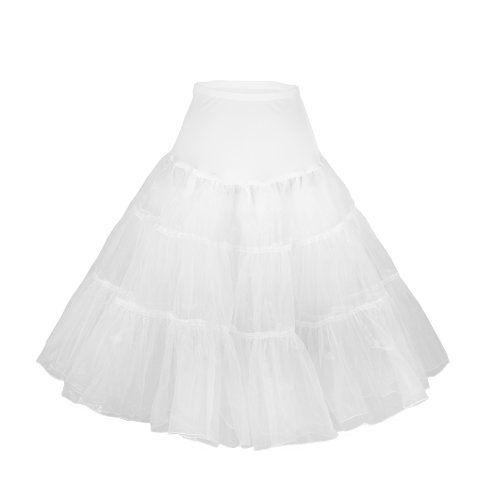 """Flora Jupon années 50 vintage en tulle Petticoat,Longueur 63,5 cm/25"""" (44-50(XL-XXL), Blanc) Flora http://www.amazon.fr/dp/B00CQS9PVE/ref=cm_sw_r_pi_dp_ngFQub1YWRCFP"""