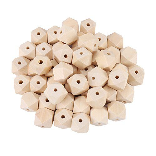 50pcs 20mm Natural Wooden Beads Ball Beads For Necklace Bracelet DIY Craft
