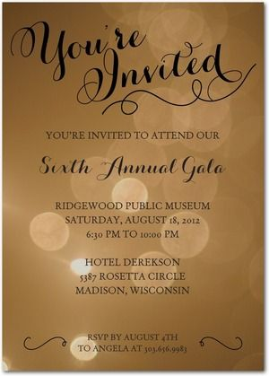 17 Best images about charity on Pinterest Glitter invitations - invitation card event