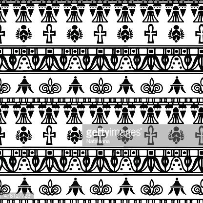 Egyptian Seamless Border Pattern Vector Art | Getty Images