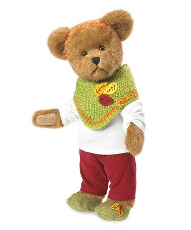 Another great find on #zulily! Harvest Time Scarf Plush Bear #zulilyfinds