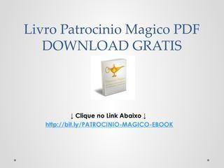 Patrocinio Magico Pdf Download Gratis Download Baixar Livros E