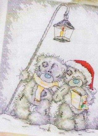 Schema punto croce Anno Nuovo 1