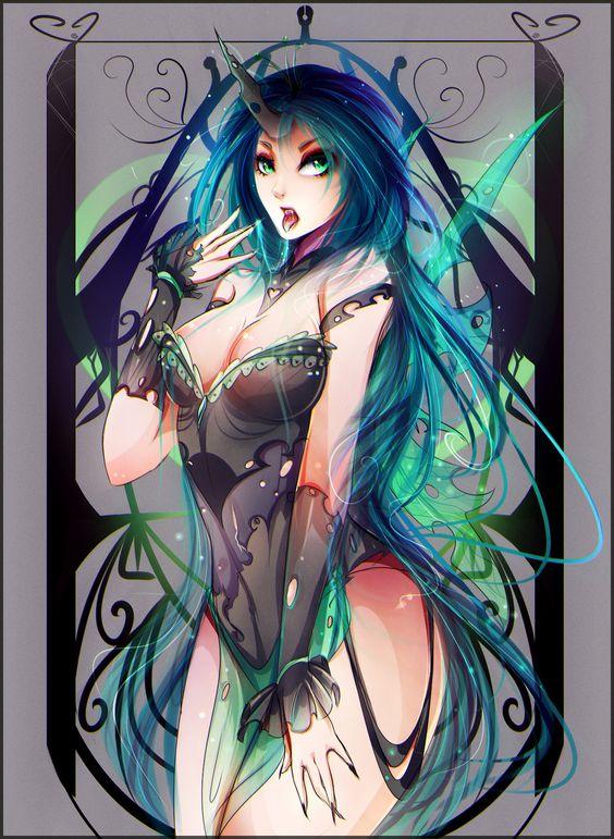 Queen Chrysalis by Koveliana.deviantart.com on @DeviantArt