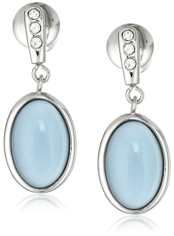 Add a drop of ice blue. Skagen Glass Stone Earrings.