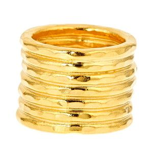 Stuck Together Stack Ring Gold, now featured on Fab.