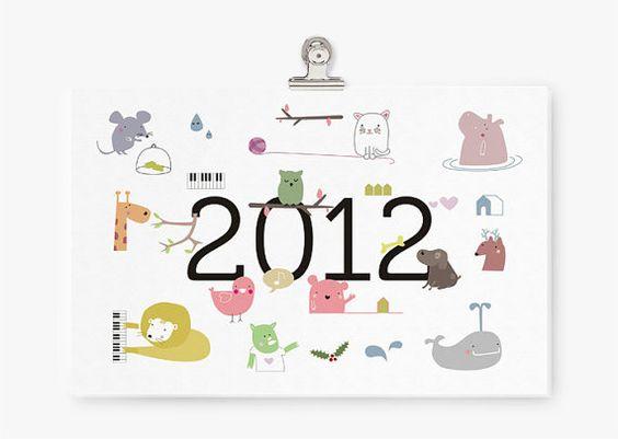 PDF Printable Calendarby Teconlene $8  #gifts #printable