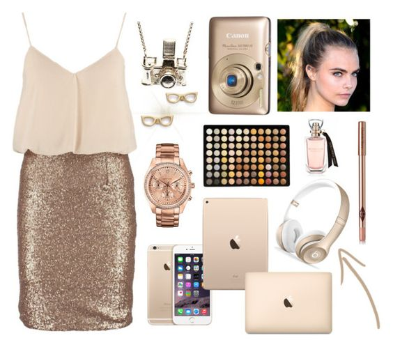 """Gold"" by apcquintela ❤ liked on Polyvore featuring Beats by Dr. Dre, Caravelle by Bulova, BHCosmetics, Miss Parisienne, Charlotte Tilbury, Kiel Mead Studio and Kate Spade"