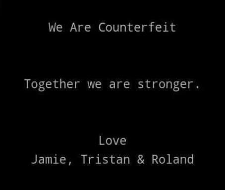 #WeAreCounterfeit