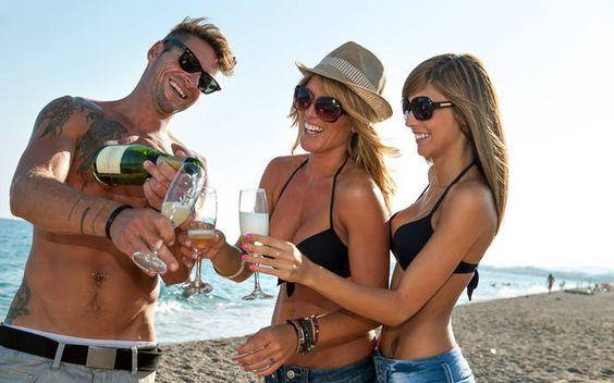 Bei den Spring Break Partys gehört der Strand den Studenten