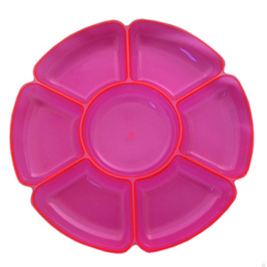 Neon Pink Large Section Tray 16 Inches 40cm In 2020 Party Supplies Australia Party Supplies Party Platters