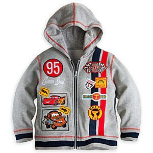 Disney Cars Hoodie for Boys | Disney StoreCars Hoodie for Boys - It's a racing certainty your young speedster will love this Cars Hoodie. The great appliqu� artwork, including Lightning McQueen and Tow Mater, plus fleecy interior, make this zip front jacket the coolest in Radiator Springs. Size4