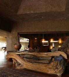 rustic wood reception desk - Google Search