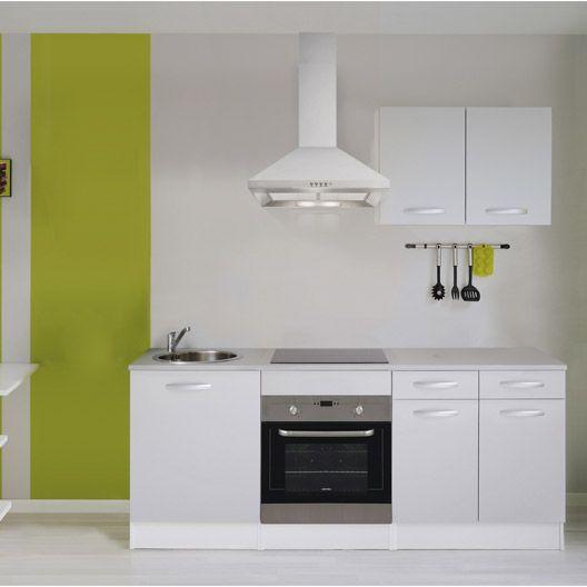 Meuble de cuisine gris aluminium composition type spring for Maison de france meuble