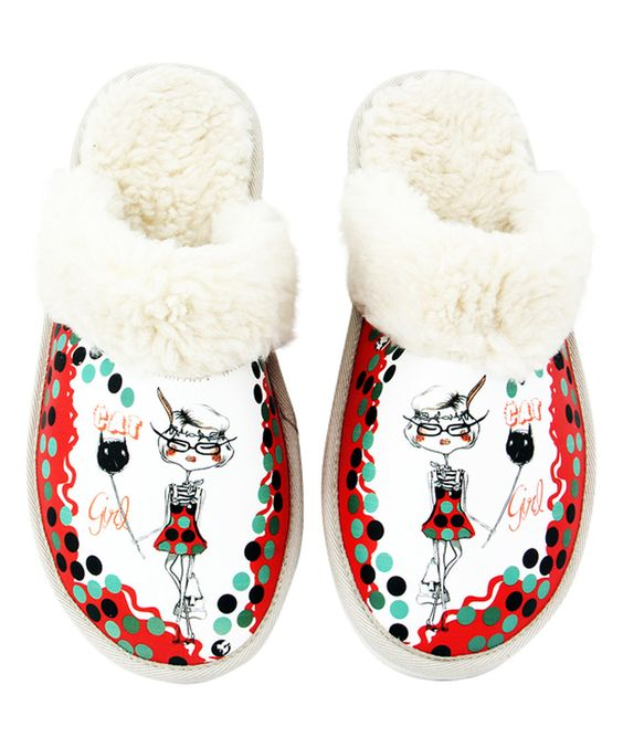 Look at this Neefs Red & Teal 'Cat Girl' Slipper on #zulily today!