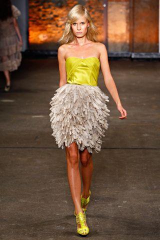 part of christian siriano's spring/summer 2012 line. fierce ~ runway ~ model ~ dress.